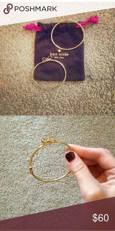 💎Cyber Monday Sale Only💎Kate Spade Bow Bracelets 2 Gold Bow Bracelets Authentic good condition. kate spade Jewelry Bracelets