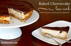 You really ave to try this simple low carb baked cheesecake with an easy chocolate ganache. There are even tips on how to reduce the carbs further.