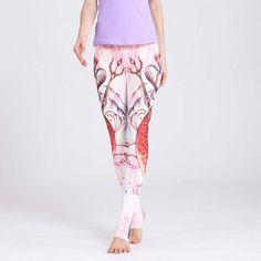 b132547563000 New Fashion Women Yoga Pants Fitness Wear 3D Digital Printing Women  Sportswear Quick Dry Pants Gym Running Pants with