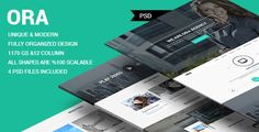 ORA - One Page Creative Agency Theme by faraklit34 ORA One Page Creative Agency Theme is a very clean and modern designed PSD template for multi purpose for any business. The PSD f