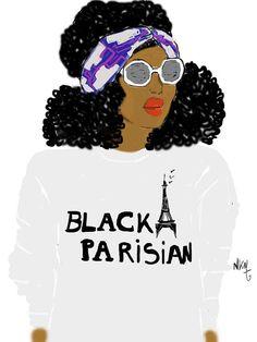 Black Parisian colored par Nikisgroove sur Etsy