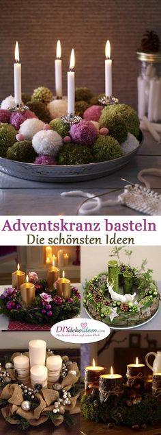 Adventskranz basteln - Die schönsten DIY Bastelideen zur Adventszeit