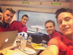 Ander Herrera (right) uploaded the above image via Instagram with his Manchester United team-mates