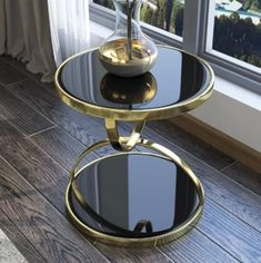 New Tempered Glass End Table for Living Room Metal Round Coffee Table Glass End Tables, Glass Top Coffee Table, Round Coffee Table, Round Side Table, Centre Table Design, Tea Table Design, Iron Furniture, Table Furniture, Modern Furniture