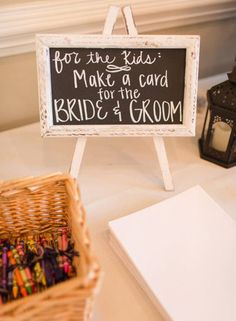 Make your life and the lives of your guests easier on your wedding day by pre-planning an activity for your tiny guests.