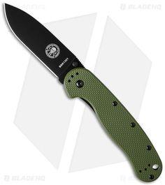 """ESEE Avispa Frame Lock Knife OD Green (3.5"""" Black) BRK1301ODB"""