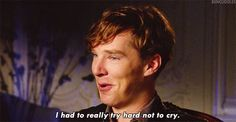 Because he is comfortable with his FEELS, you guys. | 18 Reasons The Internet Loves Benedict Cumberbatch