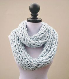 Instant Download Knitting PATTERN Infinity Scarf by pixiebell