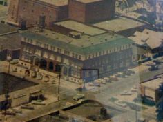YMCA Building, now known as the WTOK Building. Temple Theatre behind, and yes, that's The Bible Bookstore across the street!