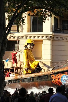 Royal de Luxe 'The Giants' performance installation as part of the Perth International Arts Festival 2015