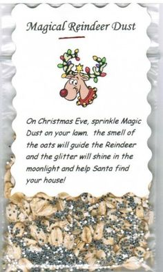 Stockings, Dust Food, Christmas Crafts, Reindeer Dust, Magic Reindeer ...