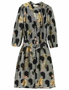 Pyrus Marina Futura Dress, a printed black and white geometric patterned dress wuth sleeves/ An effortlessly easy to wear Summer dress with a v neck and a matching waist belt. Dress Outfits, Fashion Dresses, Blouses Uk, Feather Stitch, Pyrus, Dresses For Work, Summer Dresses, Blouse Dress, Dress Patterns