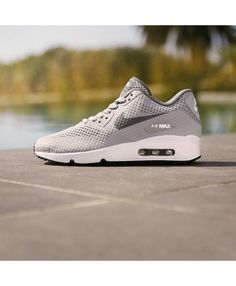the latest 5315f 05be4 Nike Air Max 90 Ultra Breathe Dark Grey Logo Light Grey Shoes Sale