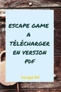 Geschenk - Escape game à télécharger en version PDF pour l'installer chez vous. Escape The Classroom, Spy Birthday Parties, Game Effect, Small Quotes, Book And Magazine, Diy Games, Escape Room, Diy For Kids, Activities For Kids