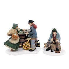 """Dept 56 - """"A Good Day's Catch"""" - - Dickens' Village Series Christmas Village Houses, Christmas Villages, Christmas Home, Dept 56 Dickens Village, Polaroid, Department 56, Good Day, Winter Wonderland, Kids"""