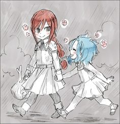 Fairy Tail - Erza and Levy. This will probs be my daughter and neice lol