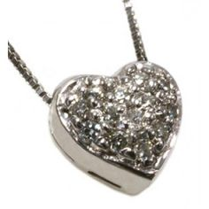 Diamond pendant with 0.13carat total diamond weight in 14k white gold | #mothersday #Mom #love #heart
