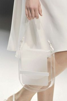 White & clear perspex bag, transparent fashion details // Jasper Conran S/S 2012 Jasper Conran, Cheap Michael Kors, Handbags Michael Kors, Mk Handbags, Handbags Online, Designer Handbags, Designer Bags, Leather Handbags, My Bags