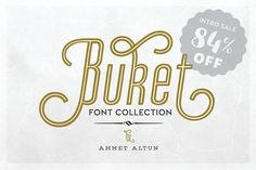 Buket Font Collection -84%off  by aatype on @creativemarket