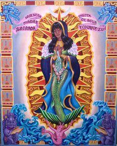 Image detail for -Tonantzin Aztec Goddess 11x14 PRINT by TheMermaidsTaleArt on Etsy