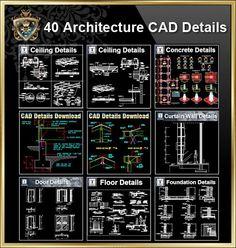 【Alle Architektur CAD Details Sammlungen】 Alle CAD Detail .DWG Dateien sind kompatibel zurück zu AutoCAD 2000. Insgesamt 40 Best CAD Detail Sammlungen sind zum Kauf und Download erhältlich! Verb…