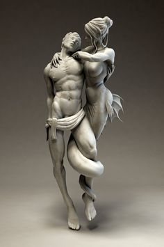 Temptation by Fabio Prati, via Behance---i'd want this as a mini sculpture in my bathroom. sitting on top of a counter top.