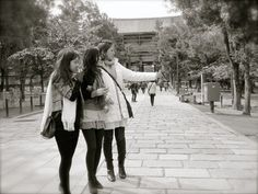 This will be me, Natasha, and Isha in Japan :) exactly.