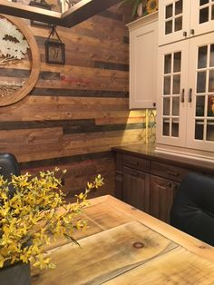 Wood wall created using BrewPub in Whiskey Barrel by Great American Spaces