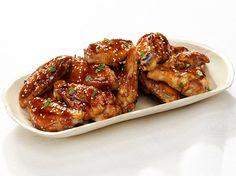 Teriyaki Chicken Wings Recipe on FoodNetwork.com  -  For the recipe, simply click on the photo.  ENJOY