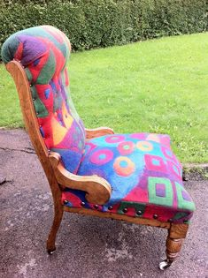 by Caroline Merrell -- she handmade the felt and then upholstered the chair!