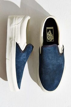 Suede Leather Slip on sneakers from vans