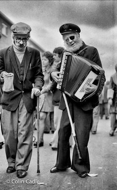 These two guys were well known for years around London's famous East Street Market every Sunday.