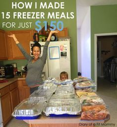 15 Freezer Meals Before Your Baby Arrives! - Diary of a Fit .- 15 Freezer Meals Before Your Baby Arrives! – Diary of a Fit Mommy - Make Ahead Freezer Meals, Crock Pot Freezer, Freezer Cooking, Quick Meals, Batch Cooking, Premade Freezer Meals, Freezer Lasagna, Freezer Dinner, Plan Ahead Meals