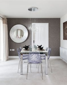 Pick iconic designs, and when it comes to tables, opt for marble, metal, glass and glossy pieces that create real impact.