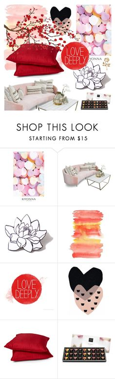 """""""Untitled #445"""" by my-names-michi ❤ liked on Polyvore featuring interior, interiors, interior design, home, home decor, interior decorating, Kiyonna, PINTRILL, Rodeo Home and Brewster Home Fashions"""