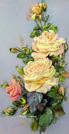 Wonderful Ribbon Embroidery Flowers by Hand Ideas. Enchanting Ribbon Embroidery Flowers by Hand Ideas. Embroidery Designs, Ribbon Embroidery Tutorial, Ribbon Flower Tutorial, Rose Embroidery, Learn Embroidery, Silk Ribbon Embroidery, Embroidery For Beginners, Hand Embroidery Patterns, Embroidery Stitches