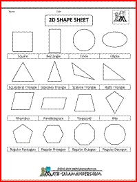 math worksheet : geometry cheat sheet 2  2d shapes lots of useful facts about  : Maths 2d Shapes Worksheets