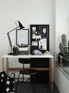 Scandinavian style workspace from Hitta Hem