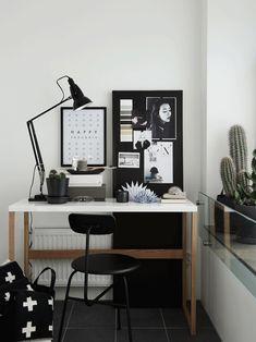 Scandinavian style workspace from Hitta Hem