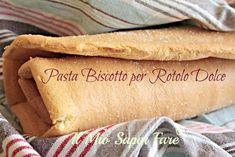 Pasta Biscotto per Rotolo Dolce morbida,elastica,sottile. Simile al pan di spagna, si può congelare. Ideale per girelle,tronchetti farciti e dolci a strati.