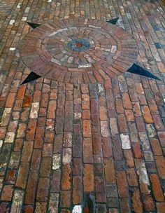 Independence Antique Brick Dillsburg PA Thin Brick Flooring Brick Flooring In Uncategorized Style - Houses Flooring Picture Ideas Brick Pathway, Brick Paving, Concrete Bricks, Brick Garden, Brick Tiles, Brick Flooring, Basement Flooring, Flooring Ideas, Penny Flooring