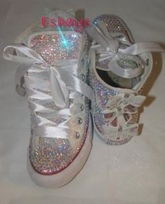 BLACK NIKE AIR MAX DYNASTY 2 GLITTER SWOOSHES. Glitter Kicks · Glitter  Kicks · AB Sparkly High Top Converse with Sequin Silver Bow Converse  Sneakers 0058c8e4a