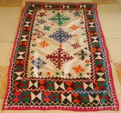 Handmade Applique and Patchwork Ralli Quilt Product Code: SV-LRQ01 Handmade Ralli Quilt – Applique & Patchwork Material: Cotton Size: 51″ x 76″ http://www.ishraqi.com/betav1/handmade-applique-and-patchwork-ralli-quilt/