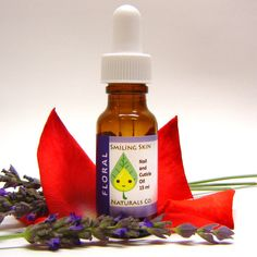 Floral All Natural Nail & Cuticle Oil, made with Organic Jojoba Oil and Essential Oils, Vegan, Lavender, Rose