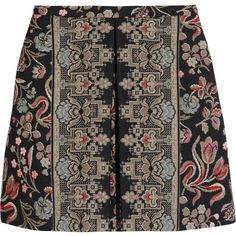 Valentino Cotton-blend tapestry mini skirt (8.485 ARS) ❤ liked on Polyvore featuring skirts, mini skirts, bottoms, valentino, multi, petite skirts, multi color skirt, short mini skirts, mini skirt and colorful skirts