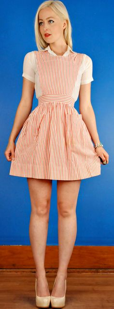 Candy Striper Vintage 60s Mini Nurse Lolita Dress