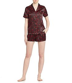 In Bloom by Jonquil Satin Shortie Pajamas #Dillards