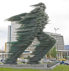 """""""Runner"""" statue, downtown Athens"""