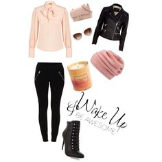 A fashion look from March 2015 featuring Alexander McQueen blouses, River Island jackets and VILA leggings. Browse and shop related looks.