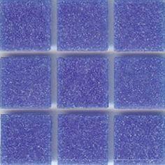 Blue Glass Mosaic Tile Cornflower Brio   Modwalls Designer Modern Tile